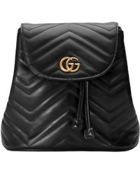 9fc095229f4e Gucci - GG Marmont Chevron-quilted Leather Backpack - Lyst