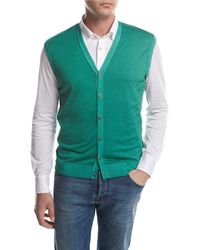Kiton - Cashmere-silk Cardigan Vest - Lyst