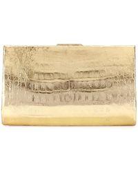 Nancy Gonzalez - Metallic Crocodile Slim Frame Clutch Bag - Lyst