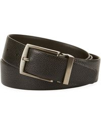 Giorgio Armani - Grained Calf Leather Belt - Lyst