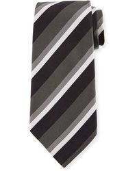 Ermenegildo Zegna - Basketweave Stripe Silk Tie - Lyst