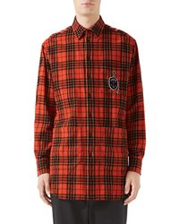Gucci - Men's Plaid Flannel Shirt - Lyst