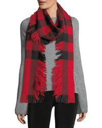 Burberry - Half Mega Fringe Wool Scarf - Lyst