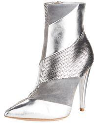 Gianvito Rossi - Multi-textile Metallic Booties - Lyst