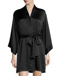 0597717ad5 Hot Josie Natori - Lolita Belted Short Robe - Lyst