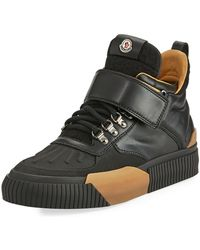 Moncler - Cyprien Leather Hiking Boot - Lyst