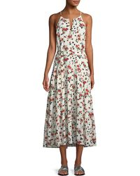 A.L.C. - Richards Floral-print Silk Midi Dress - Lyst