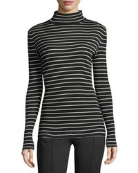 Derek Lam - Striped Jersey Turtleneck Sweater - Lyst
