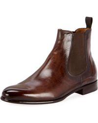Berluti - Men's Scritto Leather Chelsea Boots - Lyst