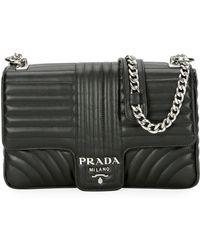 Prada - Large Diagramme Shoulder Bag W/ Chain Strap - Lyst