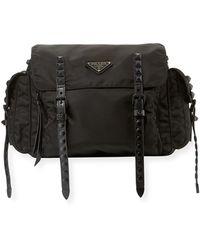 Prada - Black Nylon Messenger Bag - Lyst