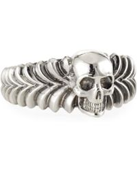 Emanuele Bicocchi - Men's Engraved Skull Ring - Lyst