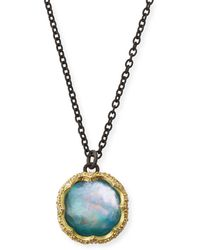 Armenta - Old World Peruvian Opal Triplet Necklace With Diamonds - Lyst