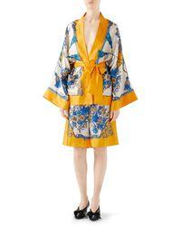 Gucci - Floral And Tassel Print Silk Pajama Shorts - Lyst