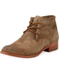 Frye - Carly Suede Chukka Booties - Lyst