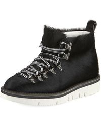 Fracap - Calf Hair Lace-up Trainer - Lyst