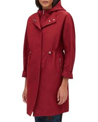 Lafayette 148 New York - Maverick Empirical Tech-cloth Coat W/ Zip-out Hoodie - Lyst