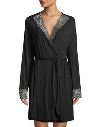 Cosabella - Pret-a-porter Lace-trim Short Robe - Lyst