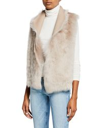 Gushlow and Cole - Down Reversible Rough Cut Sheepskin Vest - Lyst