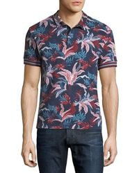 bd2281515217 Moncler Navy-tipped Short-sleeve Pique Polo Shirt in Blue for Men - Lyst
