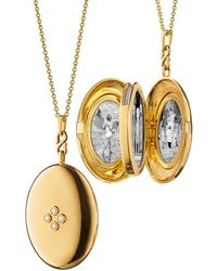 "Monica Rich Kosann - The Four ""premier""infinity Locket With Four Center Diamonds - Lyst"