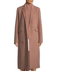 Vince - Single-button Wool Long Coat - Lyst