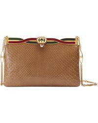 eaecb461e94ff1 Gucci - Broadway Python Evening Clutch Bag - Lyst