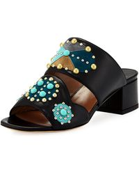 Laurence Dacade - Relena Studded Leather Mule Sandal - Lyst