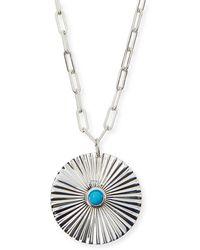 Jennifer Zeuner - Iris Silver Turquoise Pendant Necklace - Lyst