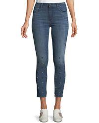 Brockenbow Reina Star-ice Skinny Crop Jeans - Blue