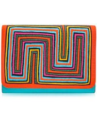 Mola Sasa - Tutsowale Embroidered Clutch Bag - Lyst