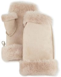 Gushlow and Cole - Fingerless Shearling Mittens - Lyst