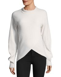 Thierry Mugler - Crewneck Cross-front Sweater - Lyst