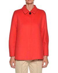 Giorgio Armani - One-button Wool-cashmere Swing Jacket - Lyst