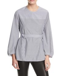 Elizabeth and James - Jesse P Mixed-stripe Belted Blouse - Lyst