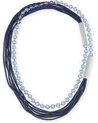Lafayette 148 New York - Bead And Mesh Long Necklace - Lyst