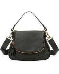 Tom Ford | Jennifer Large Grained Leather Saddle Bag | Lyst