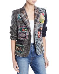 Libertine - Multimedia Tweed Patchwork Blazer - Lyst