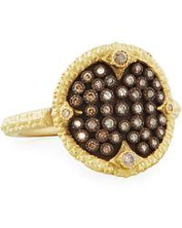 Armenta - Old World Pavé Diamond Disc Ring - Lyst