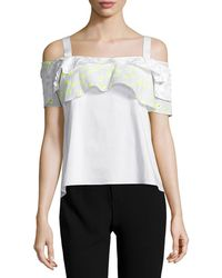 Maiyet | Ruffled Cold-shoulder Top | Lyst