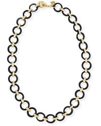 Ashley Pittman | Mtego Round Dark Horn Link Necklace | Lyst