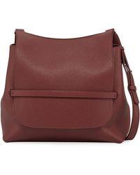 9946abe92c The Row - Sideby Pebbled Calfskin Crossbody Bag - Lyst