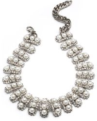 DANNIJO - Roxie Pearly Choker Necklace - Lyst