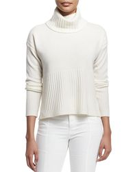 10 Crosby Derek Lam - Cashmere Ribbed-trim Turtleneck Sweater - Lyst