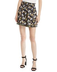 10 Crosby Derek Lam - Tiered Floral-print Silk Cami Skirt - Lyst