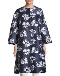 Adam Lippes | Floral Jacquard Cocoon Coat | Lyst
