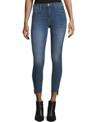 FRAME - Le High Skinny-leg Raw-edge Stagger-hem Jeans - Lyst