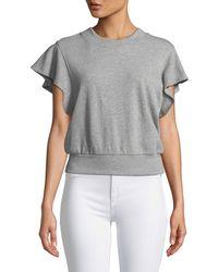 A.L.C. - Remick Flutter-sleeve Sweatshirt - Lyst