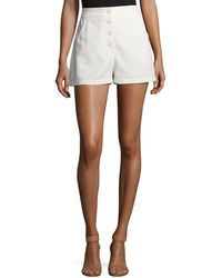 M Missoni - Button-front Solid Cotton Shorts - Lyst