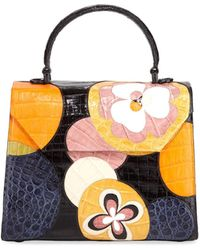 e7443366f4b4 Nancy Gonzalez - Lily Crocodile Patchwork Medium Top-handle Bag - Lyst